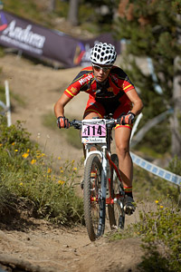 Eva Alvarez Regueiro at UCI World Cup XCO / XCE / DHI 4 - Vallnord (2013)