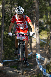 Laurie Miquel at UCI World Cup XCO / XCE / DHI 4 - Vallnord (2013)