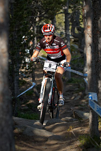 Lisa Mitterbauer at UCI World Cup XCO / XCE / DHI 4 - Vallnord (2013)