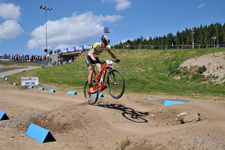 Daniel McConnell at UCI World Cup XCO / XCE 3 Nove Mesto na Morave (2014)