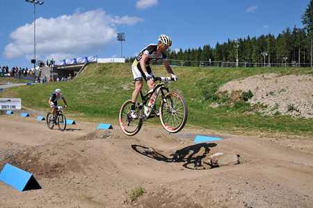 Florian Vogel at UCI World Cup XCO / XCE 3 Nove Mesto na Morave (2014)