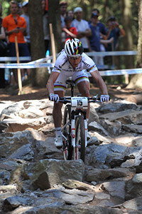 Nino Schurter at UCI World Cup XCO / XCE 3 Nove Mesto na Morave (2014)