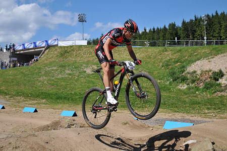 Reto Indergand at UCI World Cup XCO / XCE 3 Nove Mesto na Morave (2014)