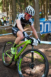 Anton Cooper at UCI World Cup XCO / XCE 3 Nove Mesto na Morave (2014)
