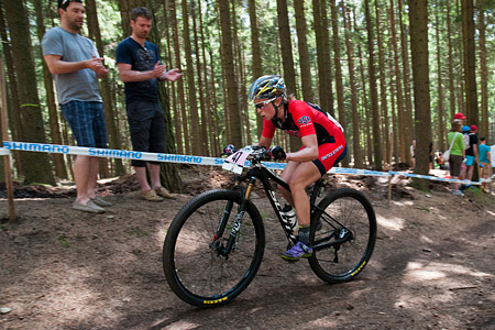 Erin Huck at UCI World Cup XCO / XCE 3 Nove Mesto na Morave (2014)