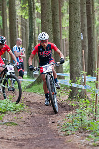 Evelyn Dong at UCI World Cup XCO / XCE 3 Nove Mesto na Morave (2014)