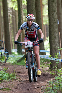 Hanna Klein at UCI World Cup XCO / XCE 3 Nove Mesto na Morave (2014)