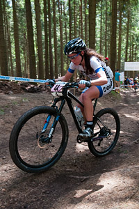 Kate Fluker at UCI World Cup XCO / XCE 3 Nove Mesto na Morave (2014)