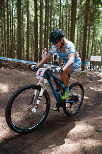 Kathrin Stirnemann at UCI World Cup XCO / XCE 3 Nove Mesto na Morave (2014)