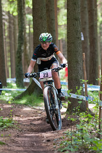 Mariske Strauss at UCI World Cup XCO / XCE 3 Nove Mesto na Morave (2014)