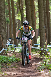 Rebecca McConnell at UCI World Cup XCO / XCE 3 Nove Mesto na Morave (2014)