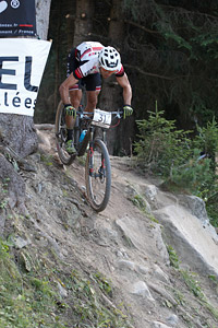 Andrea Tiberi at UCI World Cup XCO / XCE / DHI 7 - Méribel (2014)