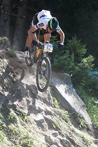 Anton Sintsov at UCI World Cup XCO / XCE / DHI 7 - Méribel (2014)