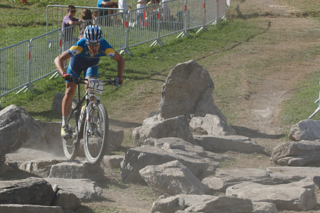 Calle Friberg at UCI World Cup XCO / XCE / DHI 7 - Méribel (2014)
