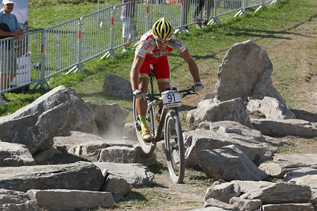 Cristofer Bosque Ruano at UCI World Cup XCO / XCE / DHI 7 - Méribel (2014)