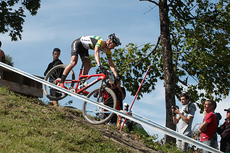 Daniel McConnell at UCI World Cup XCO / XCE / DHI 7 - Méribel (2014)