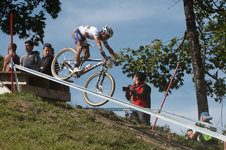 David Joao Serralheiro Rosa at UCI World Cup XCO / XCE / DHI 7 - Méribel (2014)