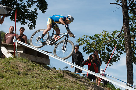 Emil Lindgren at UCI World Cup XCO / XCE / DHI 7 - Méribel (2014)