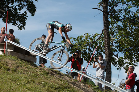 Gerhard Kerschbaumer at UCI World Cup XCO / XCE / DHI 7 - Méribel (2014)