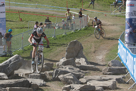 Markus Bauer at UCI World Cup XCO / XCE / DHI 7 - Méribel (2014)