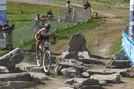 Miguel Martinez at UCI World Cup XCO / XCE / DHI 7 - Méribel (2014)