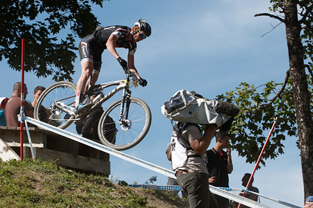 Simon Scheiber at UCI World Cup XCO / XCE / DHI 7 - Méribel (2014)