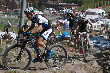 Anton Cooper at UCI World Cup XCO / XCE / DHI 7 - Méribel (2014)
