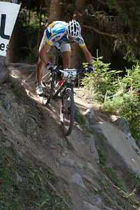 Artem Shevtsov at UCI World Cup XCO / XCE / DHI 7 - Méribel (2014)