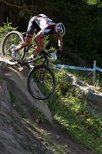 Didier Bats at UCI World Cup XCO / XCE / DHI 7 - Méribel (2014)