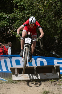 Elias Hagspiel at UCI World Cup XCO / XCE / DHI 7 - Méribel (2014)