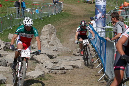 Florian Chenaux at UCI World Cup XCO / XCE / DHI 7 - Méribel (2014)