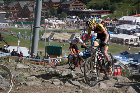Grant Ferguson at UCI World Cup XCO / XCE / DHI 7 - Méribel (2014)