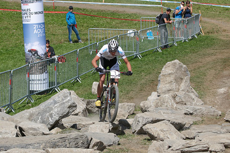 Jordan Sarrou at UCI World Cup XCO / XCE / DHI 7 - Méribel (2014)
