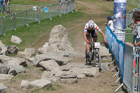 Julien Trarieux at UCI World Cup XCO / XCE / DHI 7 - Méribel (2014)