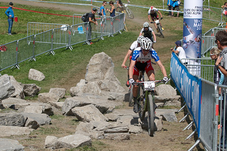 Keegan Swenson at UCI World Cup XCO / XCE / DHI 7 - Méribel (2014)