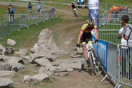 Krystof Bogar at UCI World Cup XCO / XCE / DHI 7 - Méribel (2014)