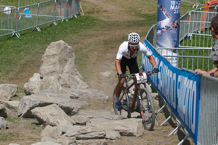 Lukas Baum at UCI World Cup XCO / XCE / DHI 7 - Méribel (2014)