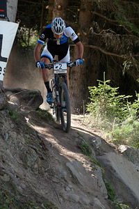 Michiel Van Der Heijden at UCI World Cup XCO / XCE / DHI 7 - Méribel (2014)