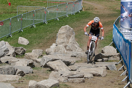 Nicolas Fischer at UCI World Cup XCO / XCE / DHI 7 - Méribel (2014)
