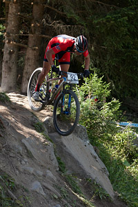Sam Weber at UCI World Cup XCO / XCE / DHI 7 - Méribel (2014)
