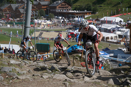 Samuel Gaze at UCI World Cup XCO / XCE / DHI 7 - Méribel (2014)