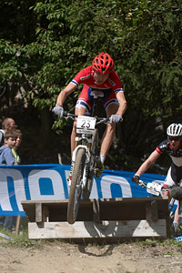 Sondre Kristiansen at UCI World Cup XCO / XCE / DHI 7 - Méribel (2014)