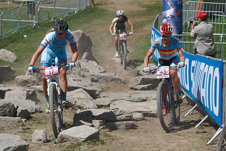 Kathrin Stirnemann at UCI World Cup XCO / XCE / DHI 7 - Méribel (2014)