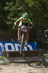 Anna Oberparleiter at UCI World Cup XCO / XCE / DHI 7 - Méribel (2014)