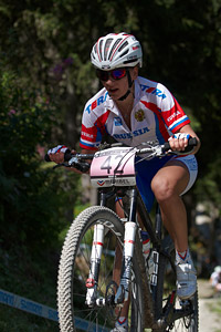 Ekaterina Anoshina at UCI World Cup XCO / XCE / DHI 7 - Méribel (2014)