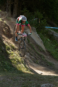 Eva Lechner at UCI World Cup XCO / XCE / DHI 7 - Méribel (2014)