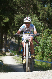 Julie Bresset at UCI World Cup XCO / XCE / DHI 7 - Méribel (2014)