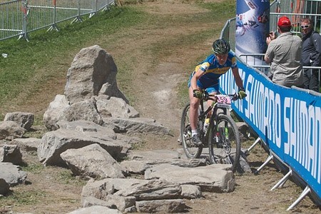 Kajsa Snihs at UCI World Cup XCO / XCE / DHI 7 - Méribel (2014)