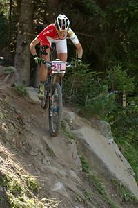 Katrin Leumann at UCI World Cup XCO / XCE / DHI 7 - Méribel (2014)