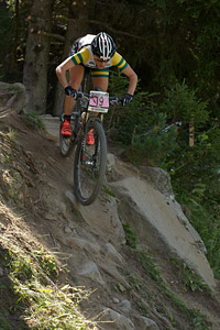 Rebecca McConnell at UCI World Cup XCO / XCE / DHI 7 - Méribel (2014)